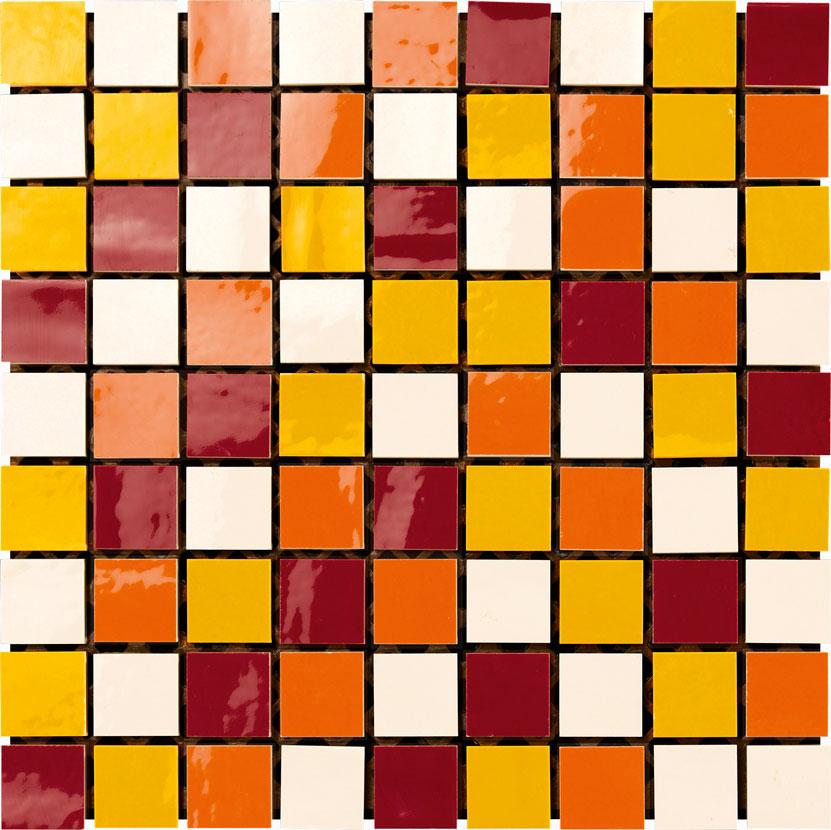 mosaico 30x30 panna / giallo / arancio / rubino