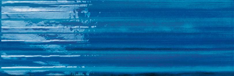 Dec. righe 20x60 azzurro / blu