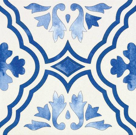 Vietrese 33x33 blu - azzurro