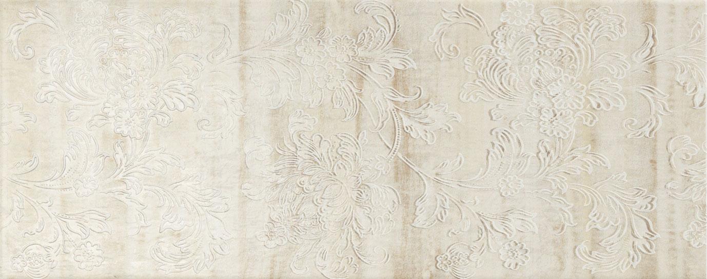 Decoro floreale beige 2x50