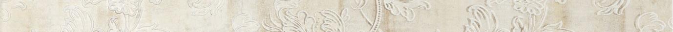 Listello floreale beige 5x50