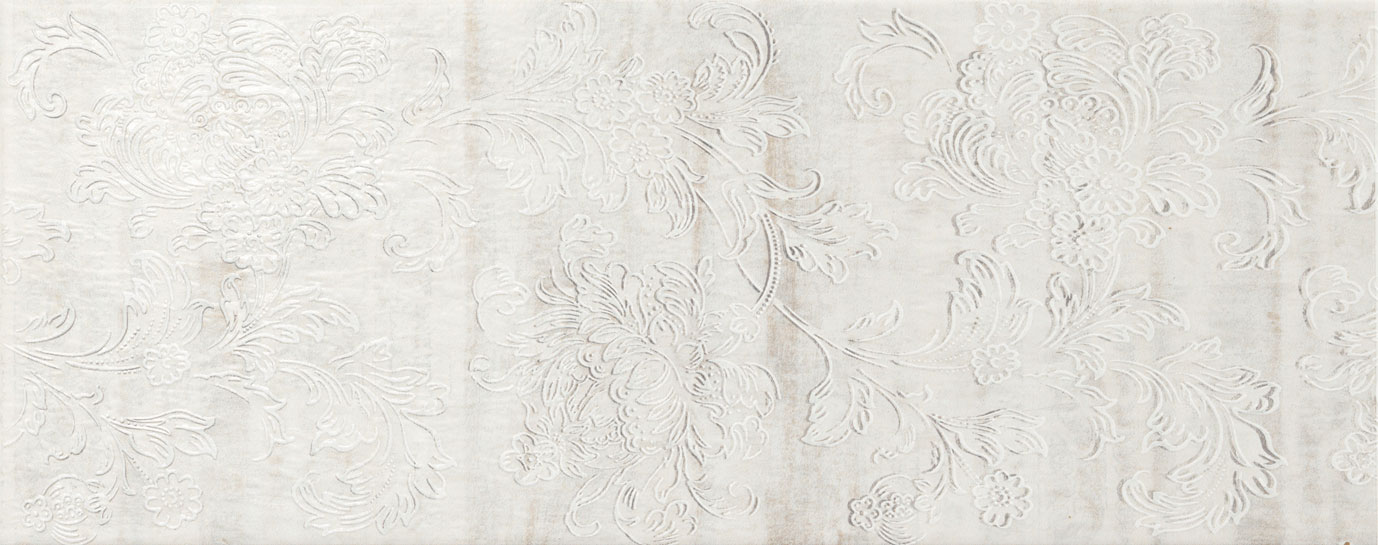 Decoro floreale grigio 20x50