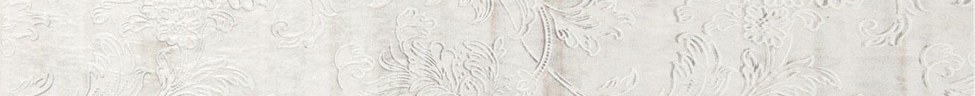 Listello floreale grigio 5x50