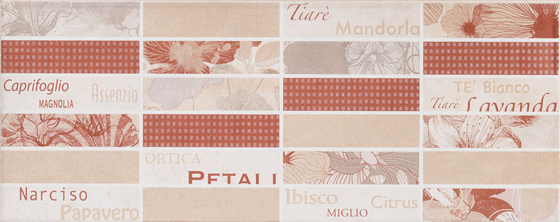 Muretto petali 20x50 mattone