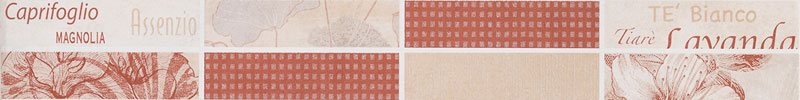 Listello petali 6,5x50 mattone