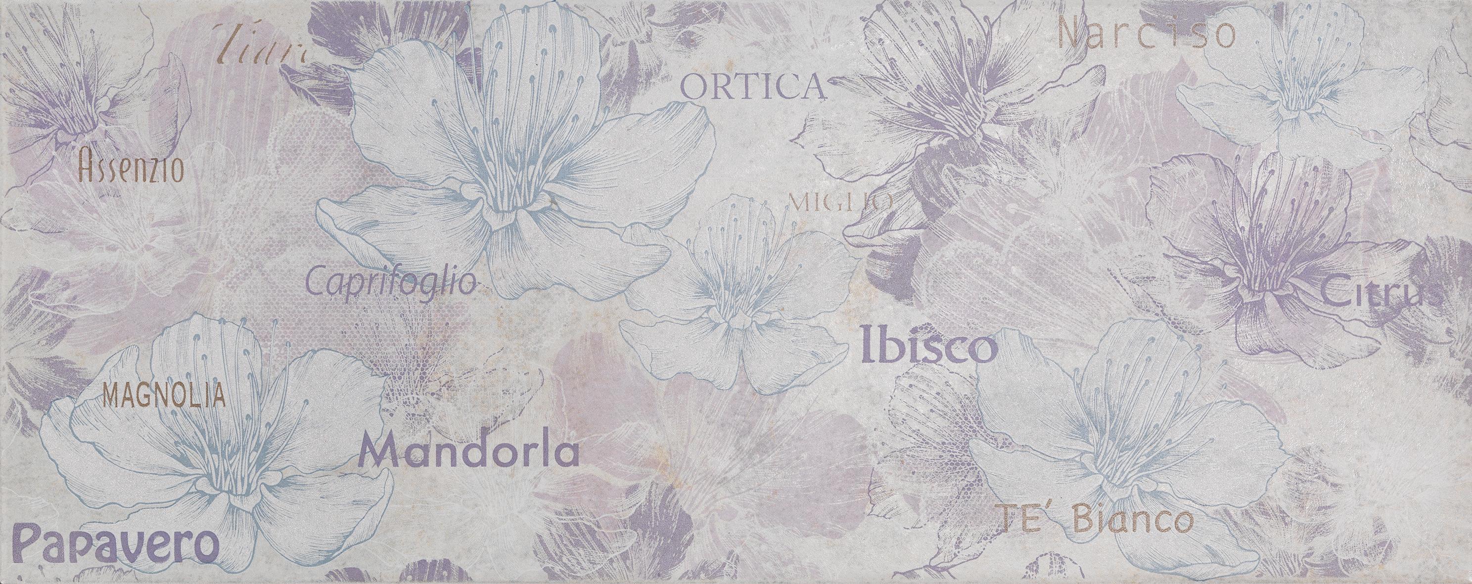Inserto petali 20x50 viola/grigio
